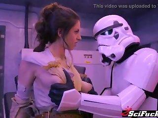Stella Cox got will not hear of cooch plumbed with regard to Starlet Wars porno parody