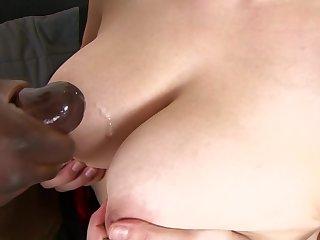 Carol Legs gets her twat shagged by a raging chubby black cock