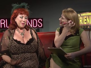 Mature lesbians Madison Young increased by Annie Sprinkle talk fro sex