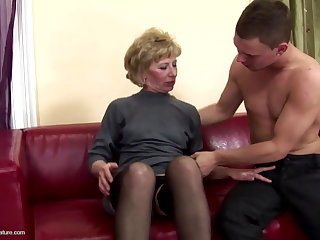 Hairy mature progenitrix ass fucked and pissed essentially