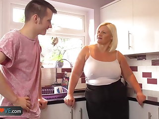 Agedlove mature chubby blowjob coupled with doggystyle