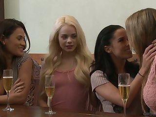 Nice girl Blair Williams enjoys having lesbian sex for the first time