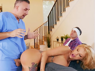 Busty wife interested new obese cock of nurse