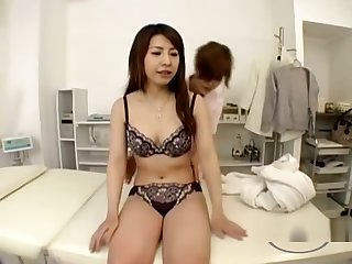 Asian Girl Massaged Getting Her Tits Rubbed Armpit Licked By The Masseuse On The Massage Bed