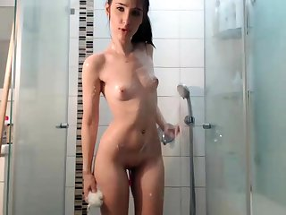 Hot Brunette Webcam Sweeping In Be passed on Shower Part 1
