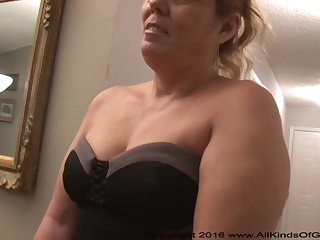 Mexican grandmother gilf with large ass attempts be firm assfuck inexperienced pornography