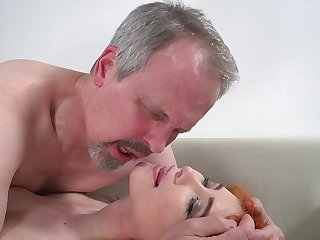 Horny old guy has unforgettable sex on touching wife's cute stepdaughter