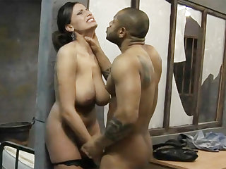Big-dicked black prisoner fucks a kinky ashen lawyer