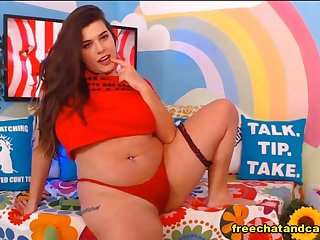 Bewitching Fat Impenetrable Flatmate Webcam Show