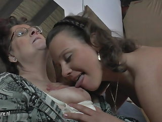 Unpretentious amateur 3 superannuated together with young lesbians fuck each other