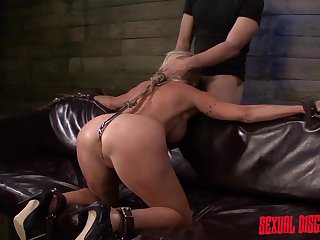 Slave gets her throat and cunt used off out of one's mind master