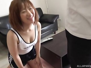 Nasty Asian makes her side cum with a blowjob and a handjob