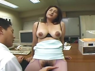 Busty japanese whore getting their way pussy part5