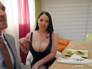 Cheating join in matrimony Angela White shakes big tits while riding cock