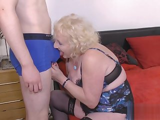 Claires Granny Cunt Pounded From Rearwards By A Young Man