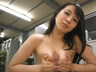 Sonoda Mion gives a versed hand work and a footjob and rides a dick