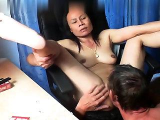 Thai asian milf mature suck fuck anal