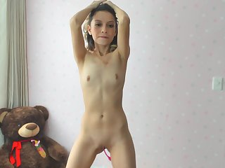 Skinny flattie Jessica webcam porn video