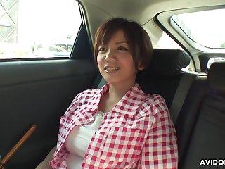 Busty housewife from Japan Meguru Kosaka is ready for some masturbation