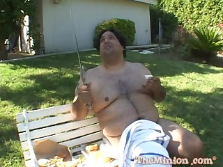 Outdoor fucking with a broad in the beam guy with an increment of natural tits blonde Estelle