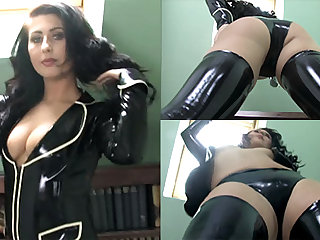 Sophie Star involving Black Jacket and Stockings - LatexHeavenVideo