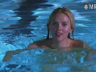 Scarlett Johansson swimming naked in the pool and looking sexy painless hell