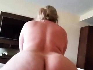 Big botheration blonde riding