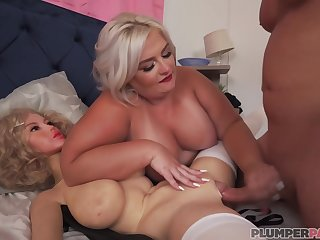 Blonde plumper, Tiffany Reputation was caught playing with Dolly, so she got fucked harder than ever