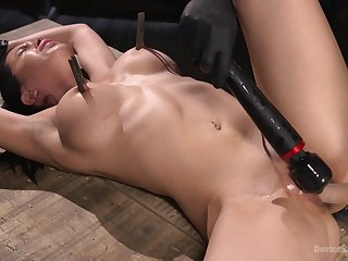 Clamped wide of the tits added to hard fucked in merciless BDSM sex play