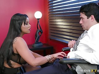 Big ass Latina MILF parks a huge dick in her put up the shutters seal holes