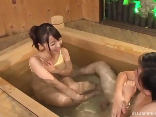 Blarney hungry amateur girl Saki Hatsumi gives head and rides