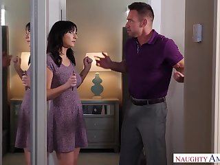 Casual sexual connection with respect to bootyful and busty brunette Alessandra Snow