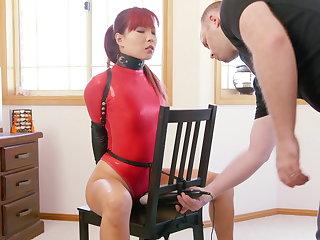 Rocking-chair Bound in Red Thong Bodysuit