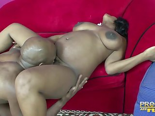 Unthinking ebony hottie has all about the right moves for a black boloney